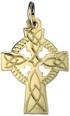 S8458 - Christening Celtic Cross,10ct Yellow gold, very small. This celtic cross is made in Ireland.