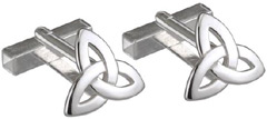 S6433 - Trinity Cufflinks , They are sterling silver and made in Ireland.