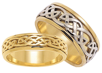 ID301 Hope - Mens, Closed weave ring embracing the promise of all things, giving optimism and positive encouragement for years to come. 9ct gold.