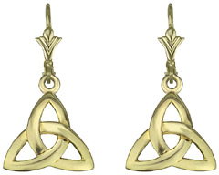 S3775 - Trinity Drops,These classic trinity drops are 10ct yellow gold,