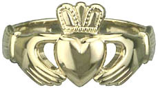 Heavy Traditional Claddagh RingThe hands represent Friendship, the heart Love, and the crown Loyalty.