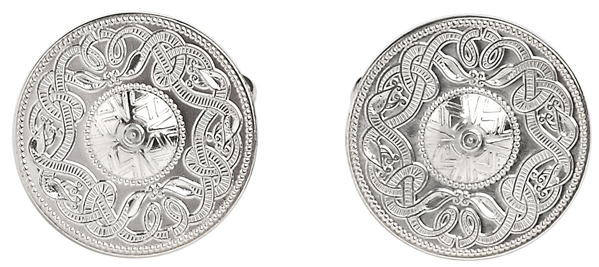 Warrior Shield Cufflinks Silver, cufflinks show the ancient warrior shield design. They are sterling silver ,