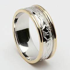 ID103 Claddagh Weave - Mens,This gorgeous ring incorporates the ancient symbol of Claddagh