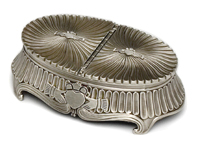 Pewter His and Hers Claddagh Jewellery Box, Loyalty and Friendship, and has two sections.