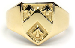 Heraldic Ring - G100,This grand mens ring is made to order in your family crest. It is 10ct gold and made in Ireland