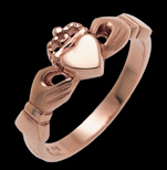 Rose Gold Claddagh Ring9ct Rose gold * 14 and 18ct prices available on request*,