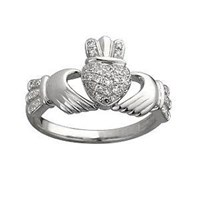 Claddagh Diamon  , a loverly ring for her on that special day