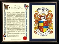 A3 Coat of arms framed print and history