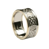 ID213 NEW LOVERS KNOT BAND GENTS,Stunning new ring to our range with the lovers knot.