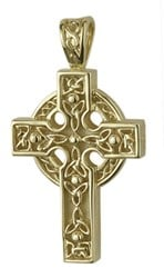 14ct Heavy Celtic Cross  ,This stunning celtic cross is heavy and detailed. 14ct Yellow Gold