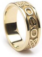 "ID210 Gra Go Deo - Ladies,This beautiful ring is unique, in that it says ""Gra Go Deo"" on it, which means ""Love forever"" in Gaelic, while also incorporating the celtic eternity knot,"
