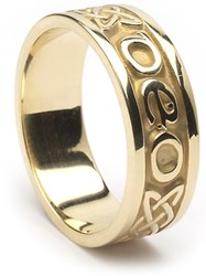 """ID210 Gra Go Deo - Ladies,This beautiful ring is unique, in that it says """"Gra Go Deo"""" on it, which means """"Love forever"""" in Gaelic, while also incorporating the celtic eternity knot,"""