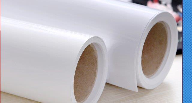 picture regarding Printable Vinyl Roll named White Printable PU vinyl for Eco Solvent Printers-25m roll
