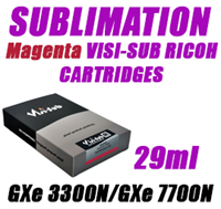 Magenta SUBLIMATION INK - VISI-SUB RICOH CARTRIDGES GXe 3300N/GXe 7700N 29ml