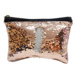 Sequin cosmetic pouch - 15 x 20 cm Rose Gold