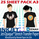 Jet Pro Opaque Darkwear Paper A3 25 Sheet Pack