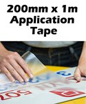 Application Tape for Adhesive Vinyls 200mm PER METER