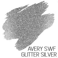 Avery SWF Diamond Glitter Silver Adhesive Vinyl A4 sheets