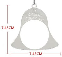 Silver Double Sided Christmas Bell with metal inserts