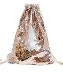 Rose Gold Sequin drawstring bag - 34 x 45 cm