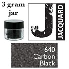 Pearl Ex Mica Powdered Pigments - 3g bottles - CARBON BLACK 640