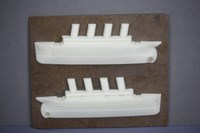 Mould PM 3314 Titanic Ship (2 halves make one complete ship)