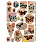 Transfer Sheet Butterflies