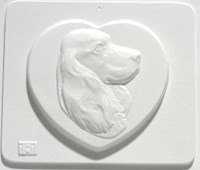 Mould 2151 - Dog on heart