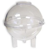 Polycarbonate Round Ball 2pce Candle Mould 3""