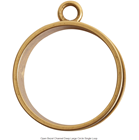 Open Bezels Channel Deep Large Circle Single Loop Antique Gold