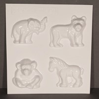 Mould 51049- Elephant, Lion, Chimp, Zebra