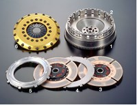 Toyota 1JZ-GTE TR2CD twin-plate clutch by OS Giken