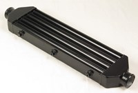 Slim black intercooler