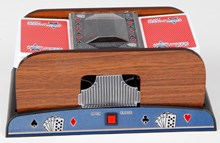 Shuffler Automatic Playing Cards Poker with a Wooden Look (OUT OF STOCK)