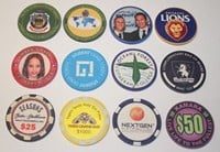 200 - 299 Personalised Custom Token Chips inc FREE Postage ($1.39 Per Chip)