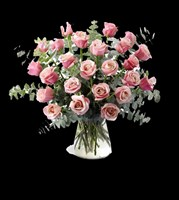 E2-4199 Pink Passion Rose Bouquet
