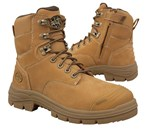 55-332Z Oliver Wheat Zip Side Lace-Up Safety Boot