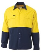 Bisley Standard Weight Hi-Vis Cotton Drill Shirt
