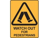 Sign Watch Out For Pedestrians