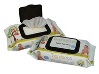 Bambeco Biodegradable Bamboo Cloth Wipes 80 Pack (formerly Clearly Herbal)