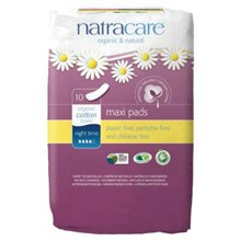 Natracare Natural Pads Night Time 10 Pack
