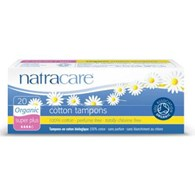 Natracare Cotton Tampons Super Plus 20 Pack (NON-Applicator)