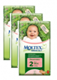 MOLTEX Eco MINI (Size 2) nappies  - 3 pack for $81.95