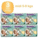 Bambo Nature Disposable Nappies - Midi - Size 3 - Carton of 198 - RRP $123.95 Our Price $120.95