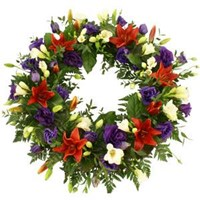 Wreath With Mixed Colours, From $100