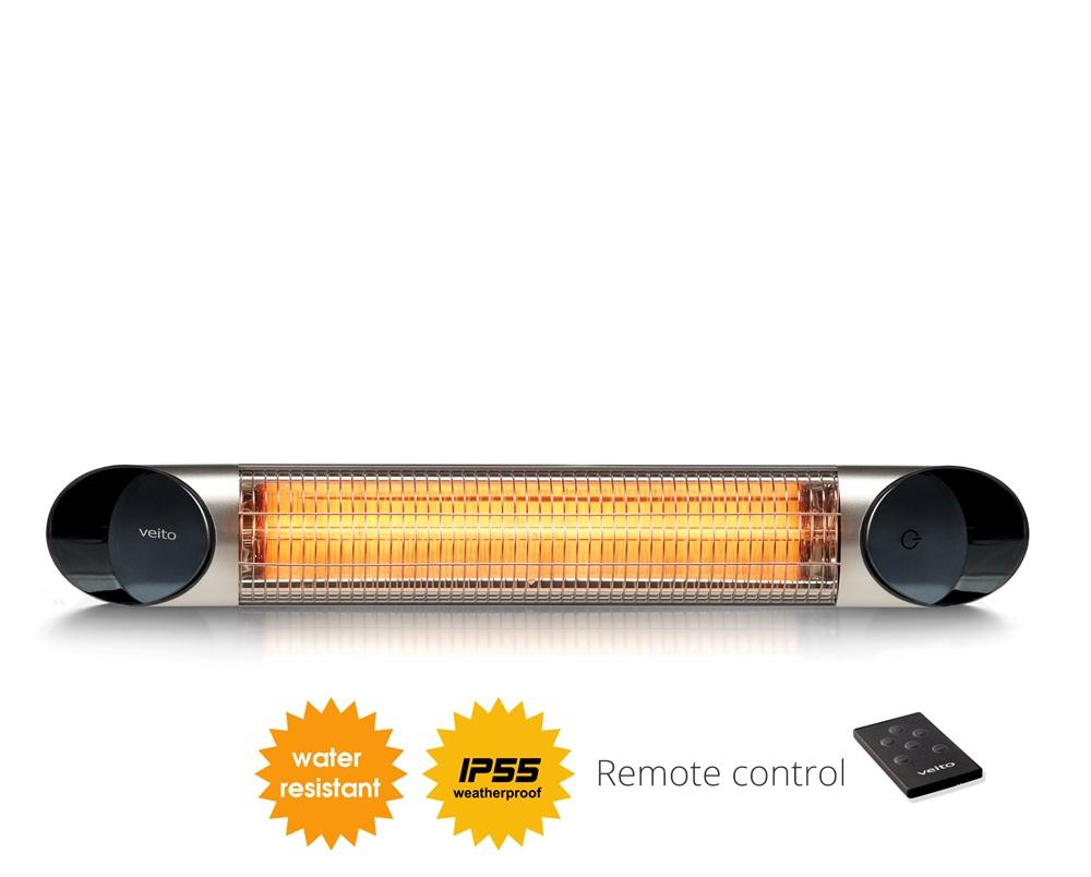 ... efficiency wall mounted carbon infrared heater with a remote control