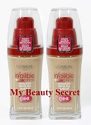 BULK 2 X L'OREAL INFALLIBLE 18HR LONG LASTING FOUNDATIONS - choose from 7 shades