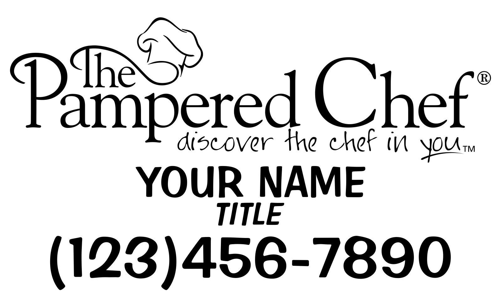 pampered chef font