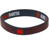 Mediband Wristband Insulin Dependent Grey