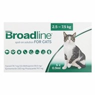 Broadline Spot-On Large Cats 5.5-16.5 lbs (2.5-7.5 kg) - 6 Pack